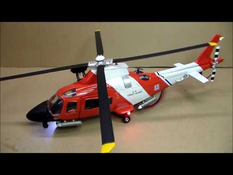 Custom-Lit Coast Guard Helicopter
