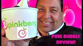 Pinkberry® Pink Bubbly Frozen Yogurt REVIEW!
