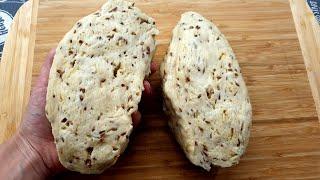 Домашний хлеб БЕЗ ДРОЖЖЕЙ за 10 минут Бездрожжевой хлеб Без длительного замеса и расстойки