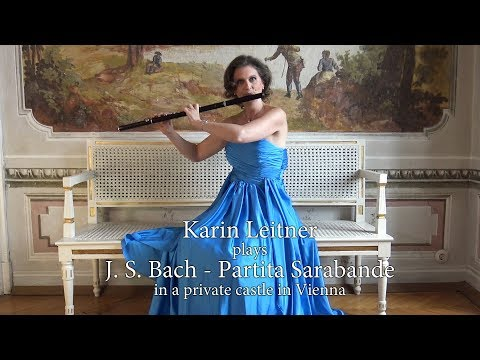 Karin Leitner plays Bach Partita - Sarabande in a private Castle in Vienna