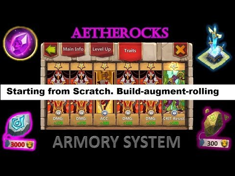 Building Armoury From Scratch- Equipment, Augmenting, Rolling Talent/traits  Castle Clash
