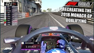 F1 2017 GAME: RECREATING THE 2018 MONACO GP QUALIFYING