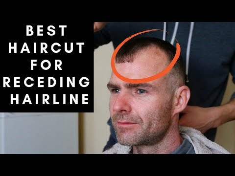 BEST Haircut For Men With RECEDING HAIRLINES - YouTube