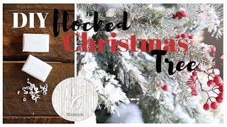 DIY Flocked Christmas Tree ~ Snowy Christmas Tree