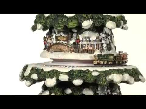 Thomas Kinkade Tabletop Christmas Tree, Thomas Kinkade Tree,  Wonderland Express Christmas Tree