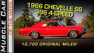 1966 Chevelle SS396 4-Speed with 10,700 Miles Video: Muscle Car Of The Week Episode 253 V8TV