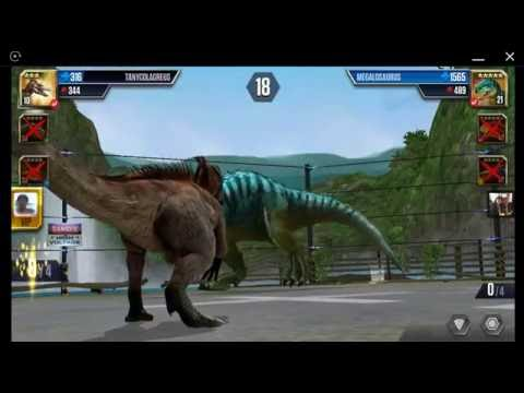 Jurassic World: The Game - Player Duel Battle 660 - TANYCOLAGREUS!