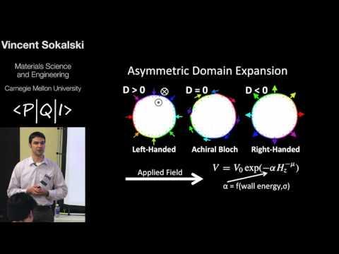 PQI2016 Vincent Sokalski: Energetic Molding of Skyrmion-Like Magnetic Bubbles