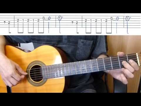 Mamy Blue - Pop Tops - Easy Guitar melody tutorial + TAB Guitar lesson