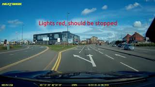 2018-08-24 - cyclist fails to stop at red light