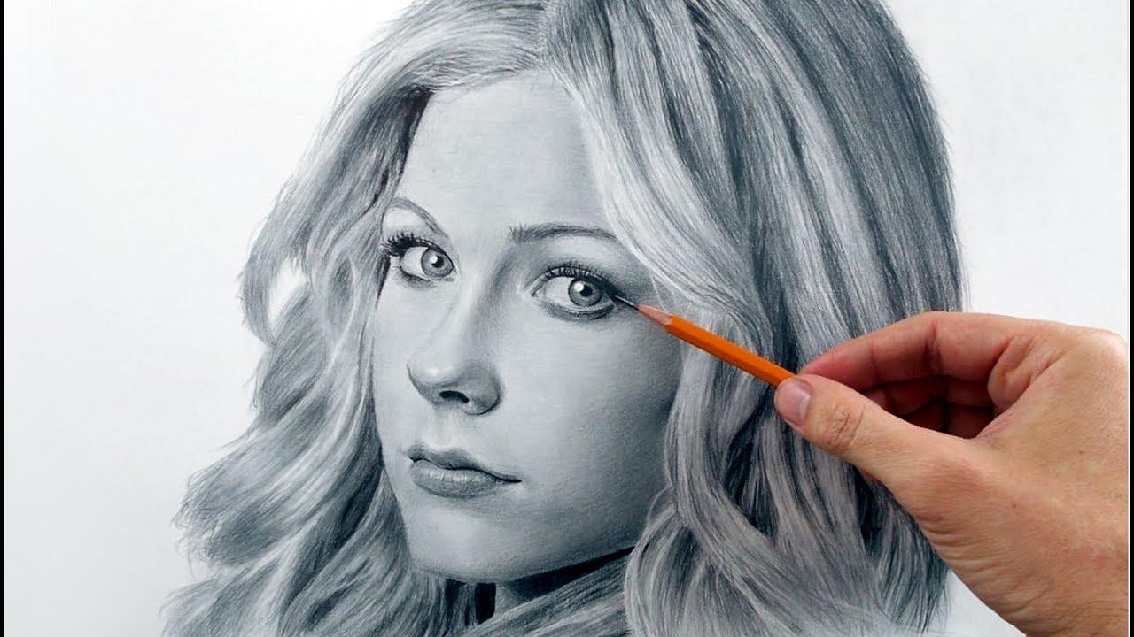 Аврил Лавин - портрет карандашом (Avril ...: www.youtube.com/watch?v=C_sqN57yuiw