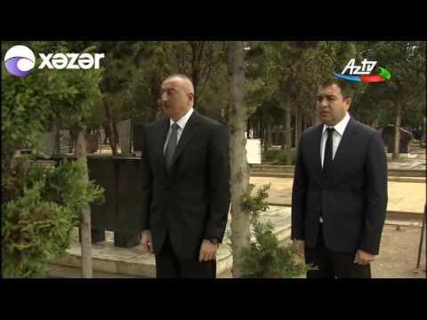 İlham Əliyev mərhum energetika naziri Natiq Əliyevin məzarını ziyarət edib