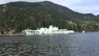 hmcs annapolis sinking explosions in slo mo