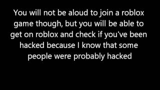 How to be able to get on roblox if the website is unavailable or hacked