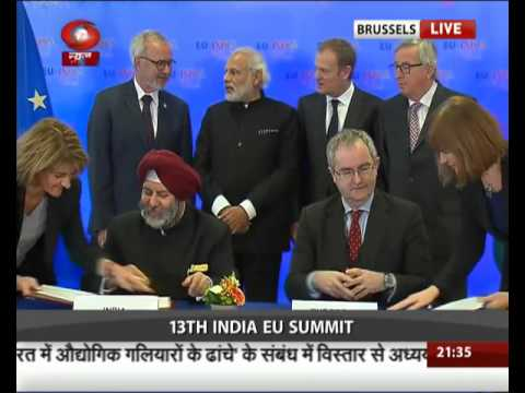 India-EU Summit : Agreement Signing Ceremony : Brussels