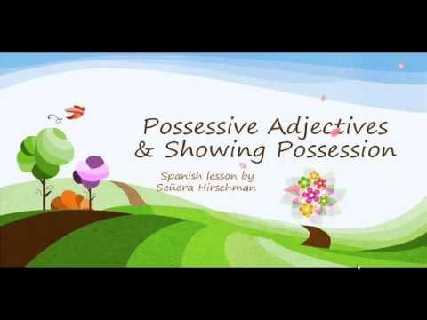A Flipped Lessons: Los Adjectivos Possessivos/ Possessive ...