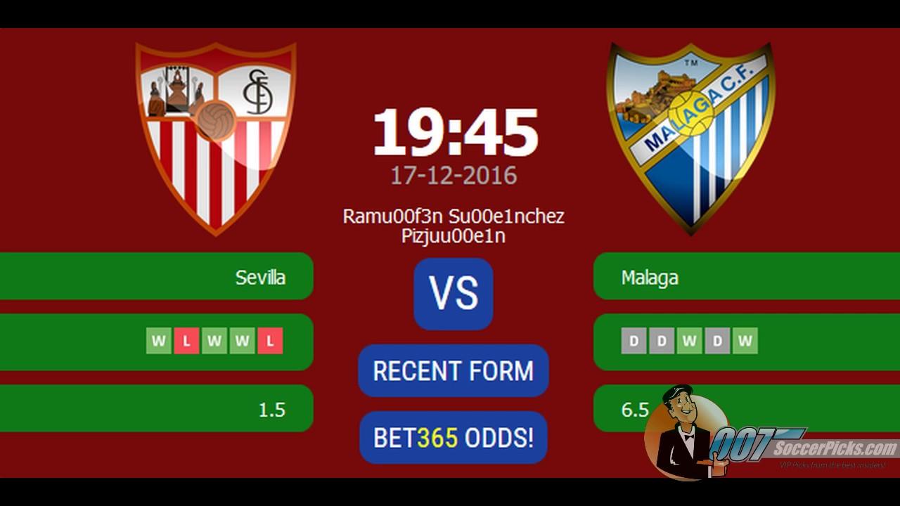 Sevilla vs malaga betting expert tab fixed odds betting rules texas