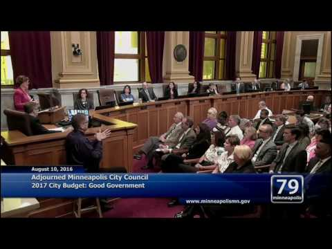 August 10, 2016 Mayor Betsy Hodges' 2017 Budget Address