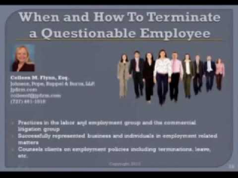 Alan Gassman on When and How To Terminate A Questionable Employee
