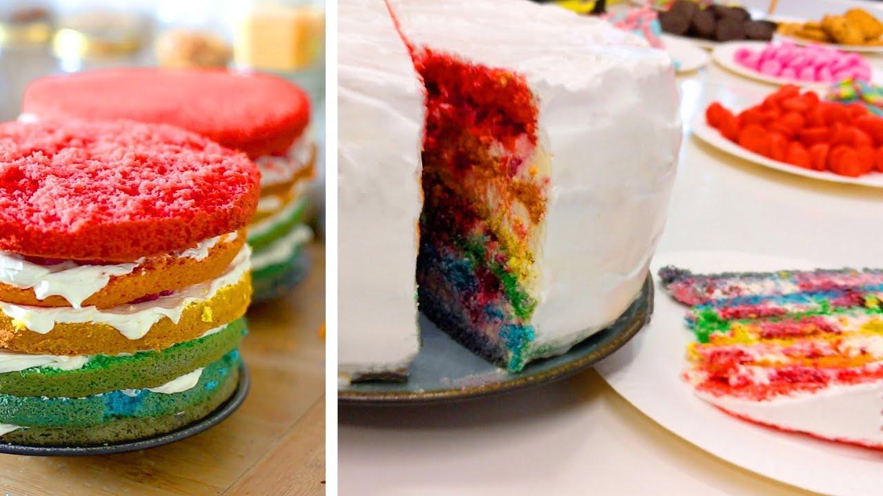 Rainbow cakes : Goûter de fin d'année