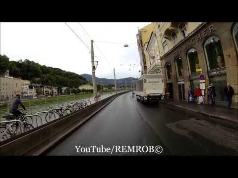 Driving Getreidegasse Salzburg, Austria