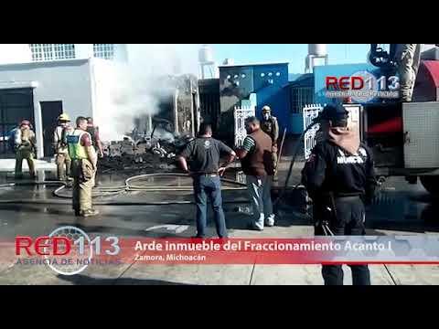VIDEO Arde inmueble del Fraccionamiento Acanto I