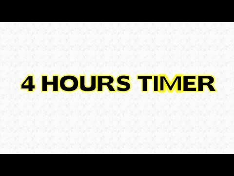 4 hours Timer Alarm Clock Countdown