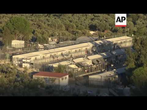 Damage after blaze at Moria camp on Lesbos