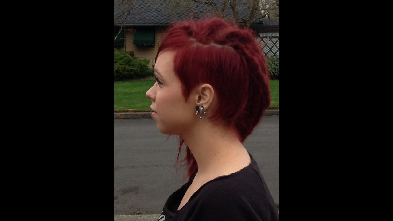 fine/thin hair dreads: two month update (red dreads/side cut ...