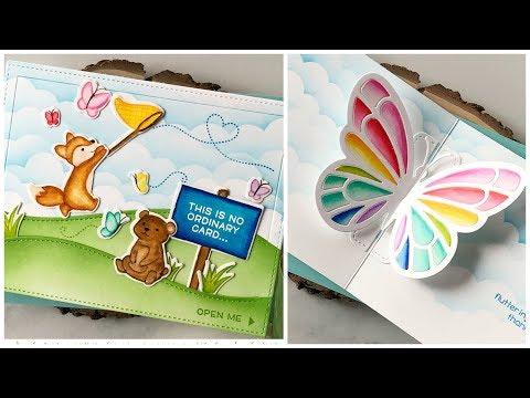No-line coloring interactive pop-up card