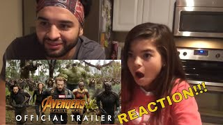 Gabby's First Trailer Reaction!! To Avengers Infinity War!! Leehhgooo