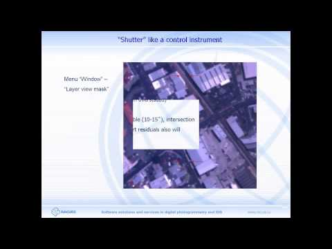 Webinar 2013.03.28. Satellite imagery block adjustment in PHOTOMOD