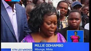 Millie Odhiambo apongeza Rais Kenyatta