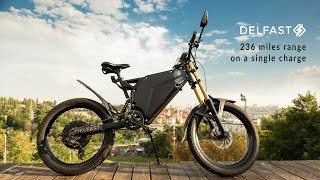 Delfast e-bike with 236 miles range - kickstarter video. 380 km on a single charge, no pedaling.