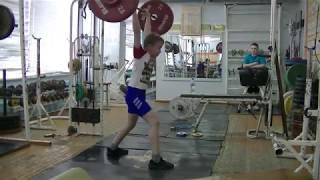Тычкин Арсений,10 лет, вк 42 Толчок 20 кг с паузой 3 с. Новичок
