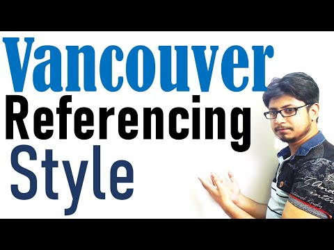 Vancouver referencing style