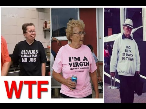 Image of: Humor Youtube Old People Wearing Funny Tshirts Hilarious Offensive Youtube