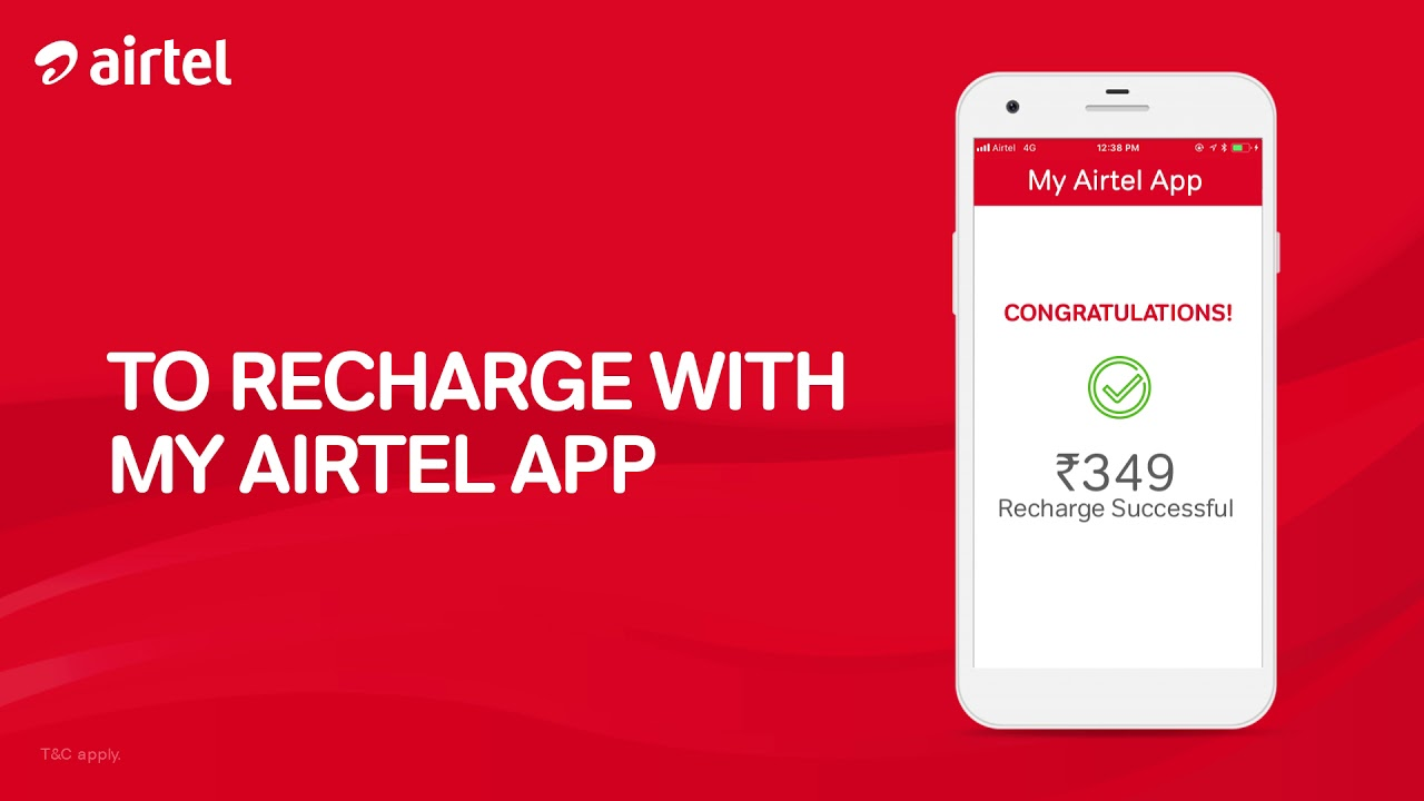 Recharge your mobile anytime with the My Airtel App