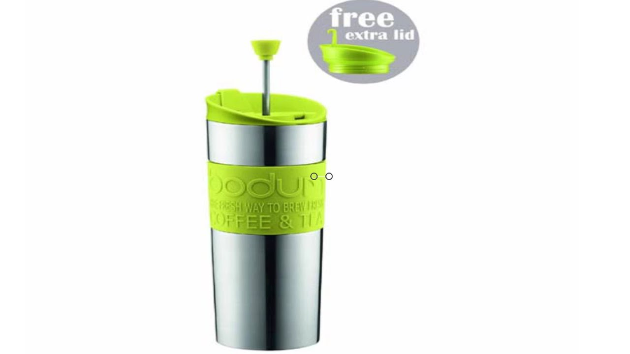Press Bodum Wall Stainless Travel Coffee Steel Double Tea And 0 45 Liter fvYb76yg
