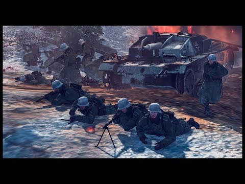 Storming the Hill! German Infantry Charge Soviet Trenches
