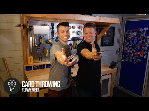 Learn How to Throw Cards with Mark Rober | Behind the Scenes | Rick Smith Jr.