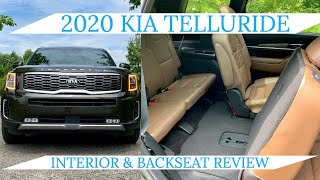 2020 Kia Telluride Interior, 2nd & 3rd Row Review
