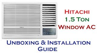 Hitachi Window AC Unboxing & Installation Guide