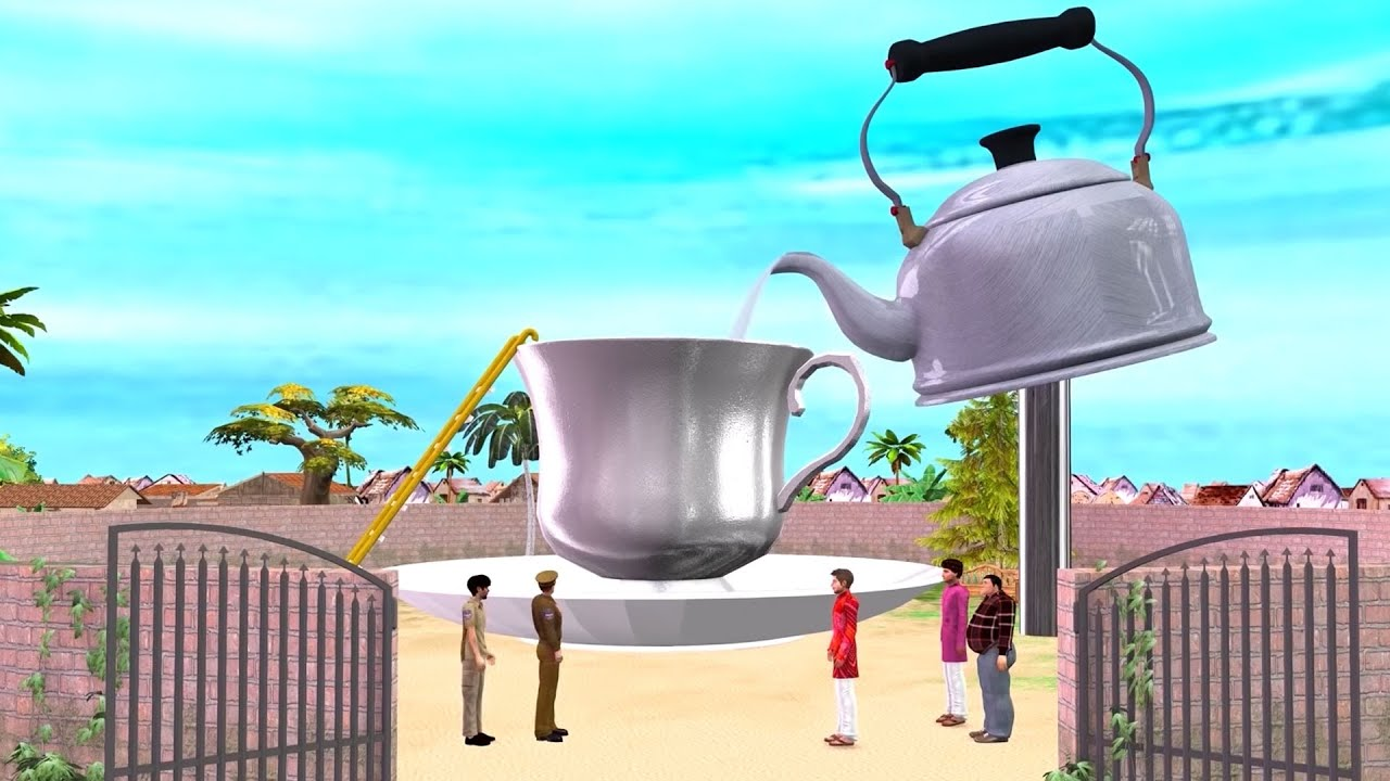 New Funny Comedy Video 2021 जादुई विशाल चायकप स्विमिंग पूल  Vishal Tea Cup Swimming Pool Kahaniya