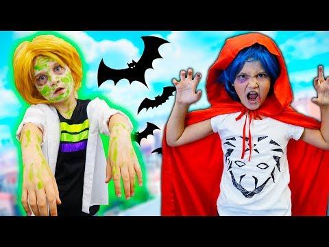 Хэллоуин вечеринка Маринетт, Адриан и Лука Вампир