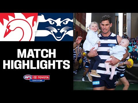 Hawkins' 250th Game | Sydney V Geelong Highlights | Round 19, 2019 | AFL