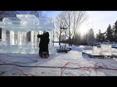 Winterlude 2015: Brandenburg Gate model at Governor General's Residence