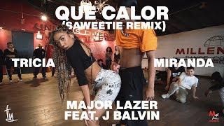 """Major Lazer """"Que Calor"""" ft. J Balvin (Saweetie Remix) - Choreography by Tricia Miranda"""
