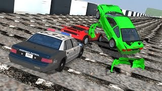 BeamNG drive - 200+ Consecutive Speed Bumps car and truck Crashes