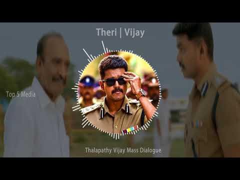 Theri   Vijay Mass Dialogue Scene    Top 5 Media   WhatApp Status Video